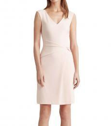 Ralph Lauren Light Pink Jersey V-Neck Dress