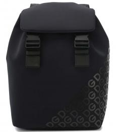 Dolce & Gabbana Black Logo Large Backpack