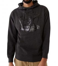 True Religion Dark Grey Buddha Logo Hoodie