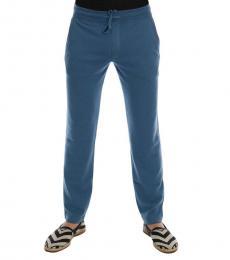Dolce & Gabbana Blue Cashmere Sport Pants