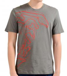 Versace Collection Grey Medusa Graphic Print T-Shirt