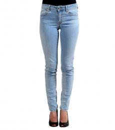 Just Cavalli Blue Distressed Jeans