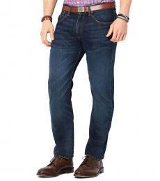 Ralph Lauren Blue Straight-Fit Morris-Wash Jeans