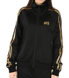 Dsquared2 Black Sequined Sweatshirt Jacket