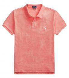 Ralph Lauren Pink Classic Fit Frayed Polo Shirt