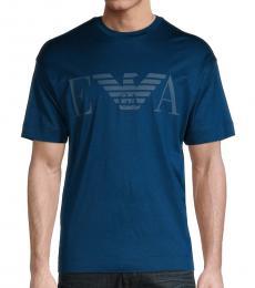 Teal Logo Crewneck T-Shirt