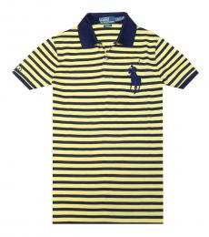 Ralph Lauren Yellow Pro Fit Pony Striped Polo