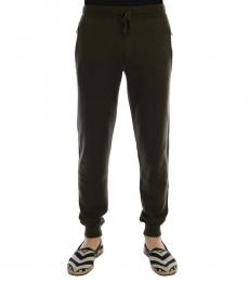 Dolce & Gabbana Green Cashmere Sport Pants