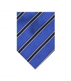Burberry Blue Dapper Stripes Silk Tie