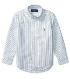 Ralph Lauren Little Boys Light Blue Stripe Oxford Shirt