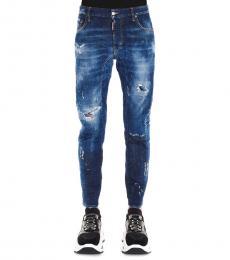 Dsquared2 Dark Blue Tidy Biker Jeans