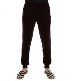 Dolce & Gabbana Purple Cashmere Sport Pants