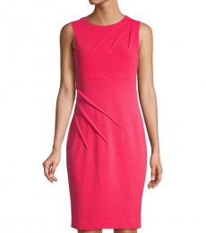 Watermelon Sleeveless Sheath Dress