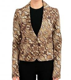 Multi-Color One Button Women'S Blazer