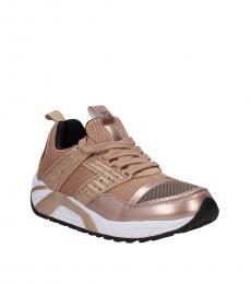 Emporio Armani Beige Sporty Sneakers