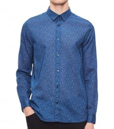 Blue Depth Regular-Fit Floral Shirt