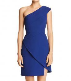 Deep Royal Blue One-Shoulder Mini Dress
