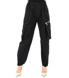 Black Cotton Cargo Pants