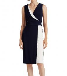 Ralph Lauren Navy Colorblock Jersey Dress