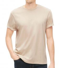 J.Crew Beige Classic Fit Washed Jersey T-Shirt
