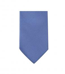 Blue Neat Slim Silk Tie