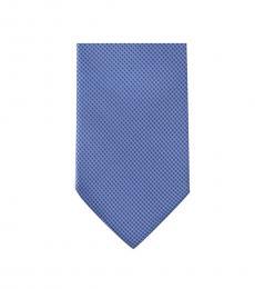 Michael Kors Blue Neat Slim Silk Tie