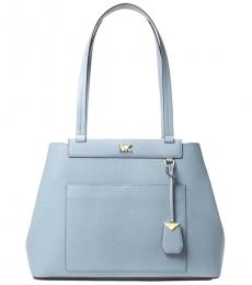 Michael Kors Pale Blue Meredith Large Tote