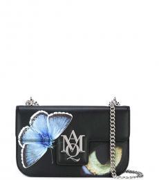 Alexander McQueen Black Insignia Obsession Medium Shoulder Bag