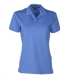 Ralph Lauren Blue Classic Golf Fit Mesh Polo Shirt
