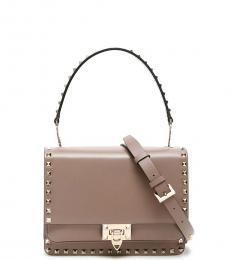 Valentino Garavani Grey Rockstud Small Shoulder Bag