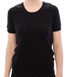 Black Solid Crewneck T-Shirt