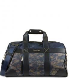 Robert Graham Navy Anson I Weekender Large Duffle Bag