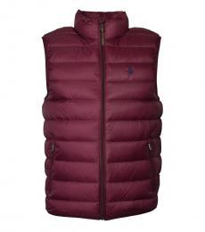 Ralph Lauren Cherry Down Packable Puffer Vest Jacket
