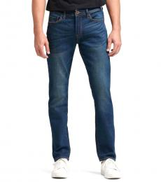 Indigo Slim-Straight Jeans