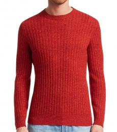 Red Donegal Knit Sweater