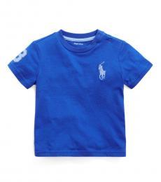 Ralph Lauren Baby Boys Travel Blue Big Pony T-Shirt