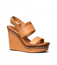 Tory Burch Elba Camello Ambra Selby Wedges