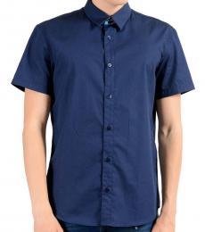 Versace Jeans Blue Short Sleeve Shirt