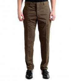 Dark Brown Flat Front Dress Pants