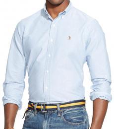 Blue Oxford Long Sleeves Shirt