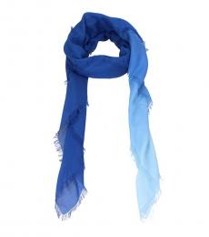 Fendi Blue Plush Scarf
