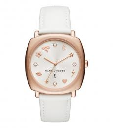 Marc Jacobs White Mandy Exceptional Time Piece