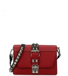 Prada Red Studded Belt Mini Crossbody