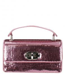 Miu Miu Pink Sequins Mini Satchel