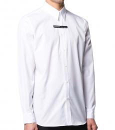 White Logo Cotton Shirt
