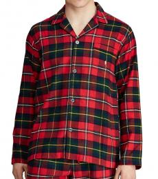 Ralph Lauren Red Flannel Pajama Top