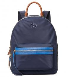 Tory Burch Royal Navy Perry Zip Large Backpack