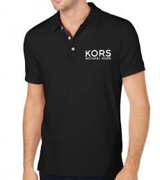 Michael Kors Black Sport Logo Polo