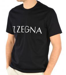 Black Short Sleeve Knit T-Shirt