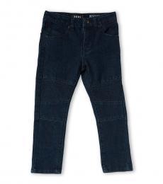 DKNY Little Boys Blue Wooster Skinny Moto Jeans